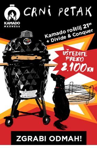 Kamado Madness Midi 21 + Divide & Conquer akcija - uštedite preko 2100 kn