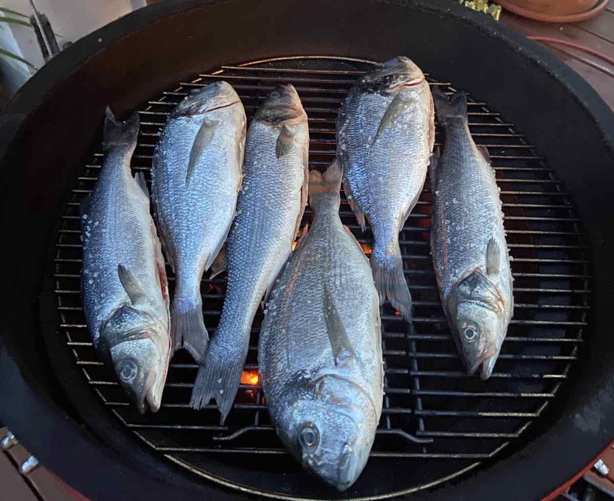 Riba s gradela ostaje sočna i ne lijepi se - poželjno je dodati par manjih komada drveta ili začina na ugljen kako bi se dobile dodatne arome