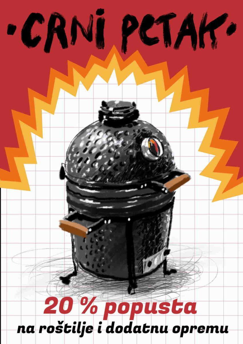Kamado Madness roštilji i dodatna oprema za Blackfriday uz 20% popusta